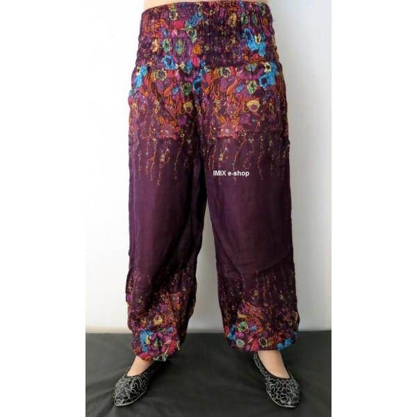 Harémové kalhoty Květinové - Výprodej