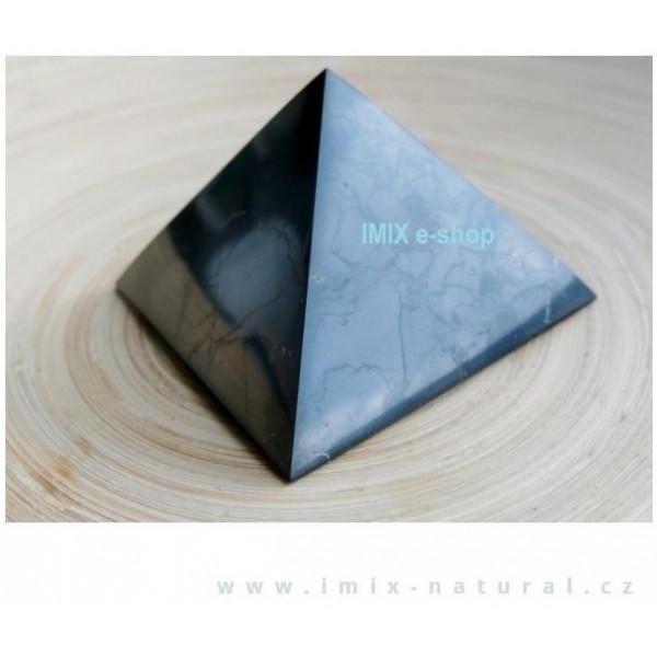 Šungitová pyramida 7 x 7 cm Karélie