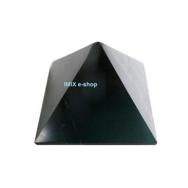 Šungitová pyramida 8 x 8 cm Karélie