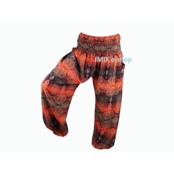Orientální Sultánské kalhoty s mandalou - více barev