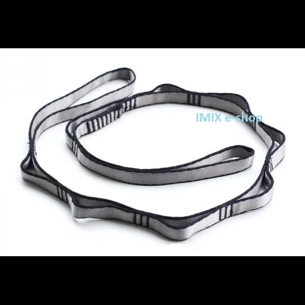 Prodlužující pás s oky na zaháknutí - šedá, dvě velikosti