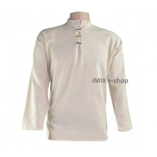 Bavlněná pánská košile/kurta světle krémová