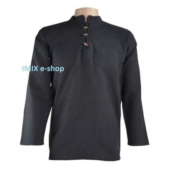 Bavlněná pánská košile/kurta černá