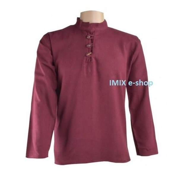 Bavlněná pánská košile/kurta vínová