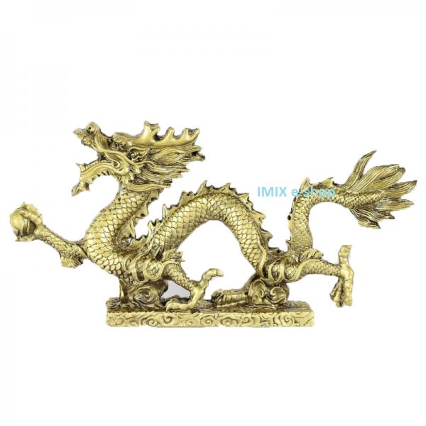 Zlatý drak Feng Shui pro posílení bohatství