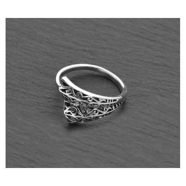 Prsten ze stříbra orientální vějíř velikost 8