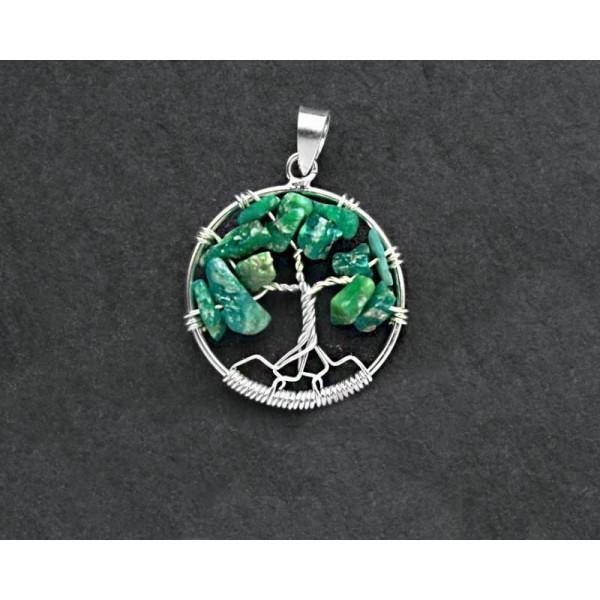 Přívěšek ze stříbra s kameny Strom života