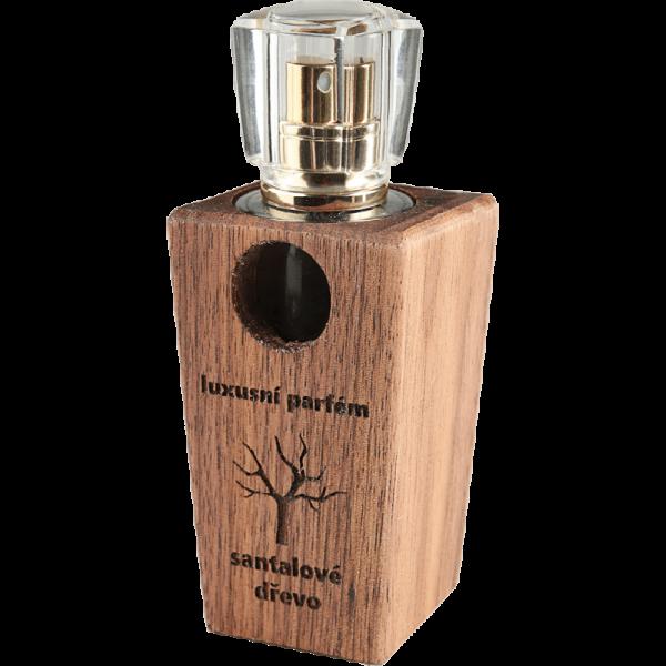 Luxusní parfém v dřevěném flakónu Santalové dřevo - ořech 30 ml