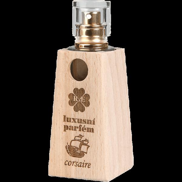 Luxusní parfém v dřevěném flakónu Corsaire - dub 30 ml