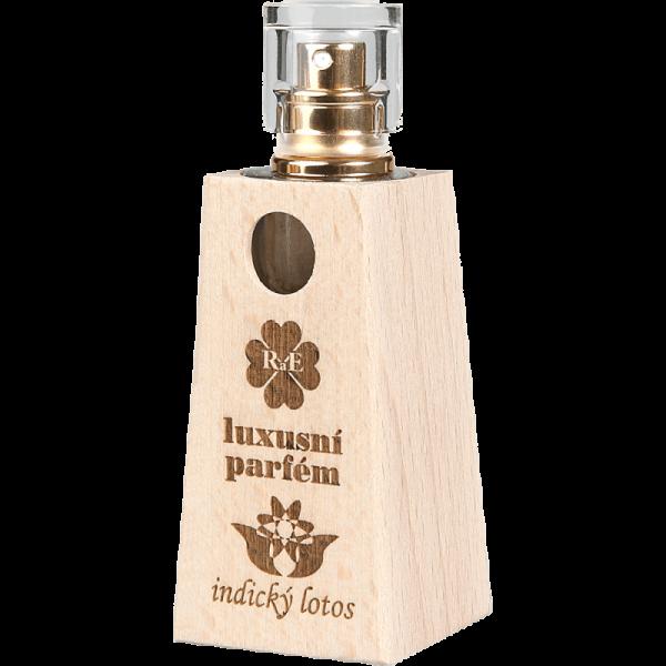 Luxusní parfém v dřevěném flakónu Indický lotos - dub 30 ml