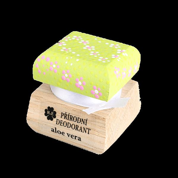 Přírodní deodorant s vůní aloe vera a přidaným extraktem z Aloe - Ručně malovaný 15 ml