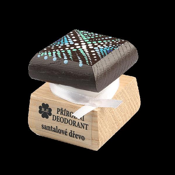 Přírodní deodorant s vůní santalového dřeva - ručně malovaný 15 ml