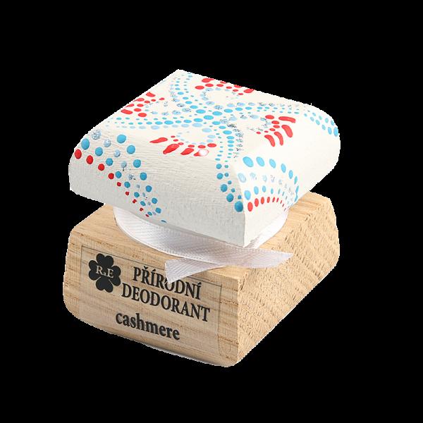 Přírodní deodorant Cashmere - ručně malovaný / červeno-bílá 15 ml