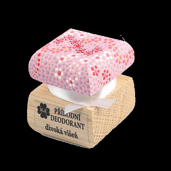 Přírodní krémový deodorant s vůní divoké višně - ručně malovaný 15 ml