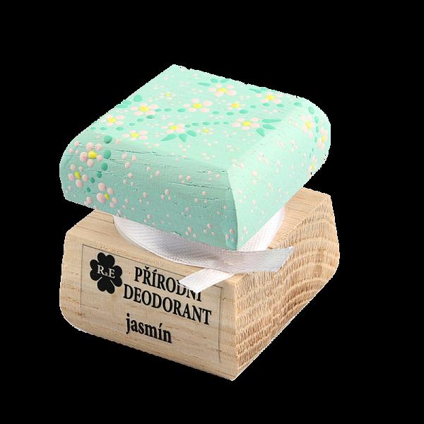 Přírodní krémový deodorant s vůní jasmínu - ručně malovaný 15 ml