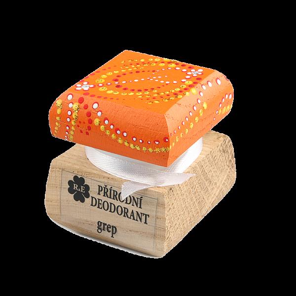 Přírodní krémový deodorant Grep - ručně malovaný / oranžový 15 ml