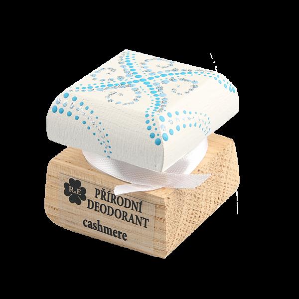 Přírodní krémový deodorant Cashmere - ručně malovaný/bílo-modrá 15 ml