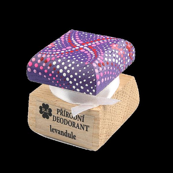 Přírodní krémový deodorant s vůní levandule - ručně malovaný 15 ml