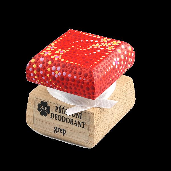 Přírodní krémový deodorant Grep - ručně malovaný/červený 15 ml