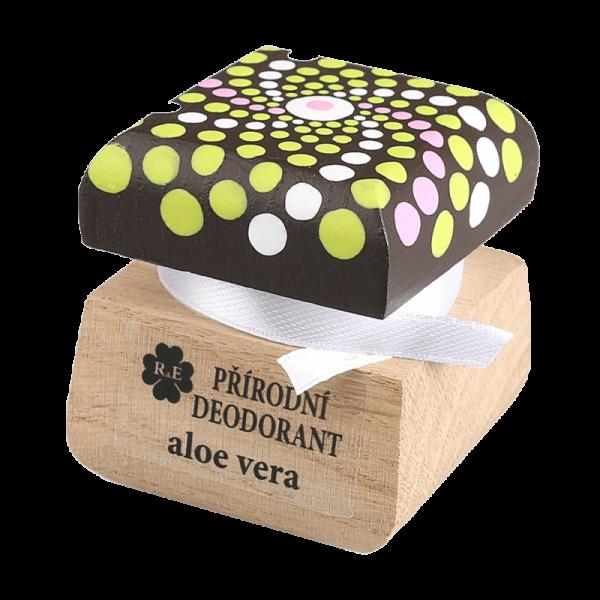 Přírodní deodorant Aloe vera s přidaným extraktem z Aloe - s malovanou mandalou 15 ml