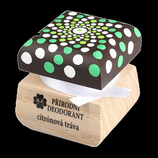 Přírodní krémový deodorant Citrónová tráva - ručně malovaný s mandalou 15 ml
