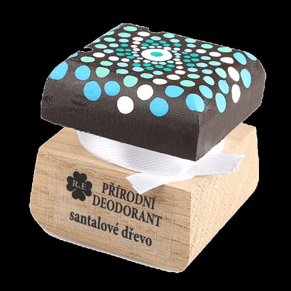 Přírodní krémový deodorant Santalové dřevo - ručně malovaný s mandalou 15 ml