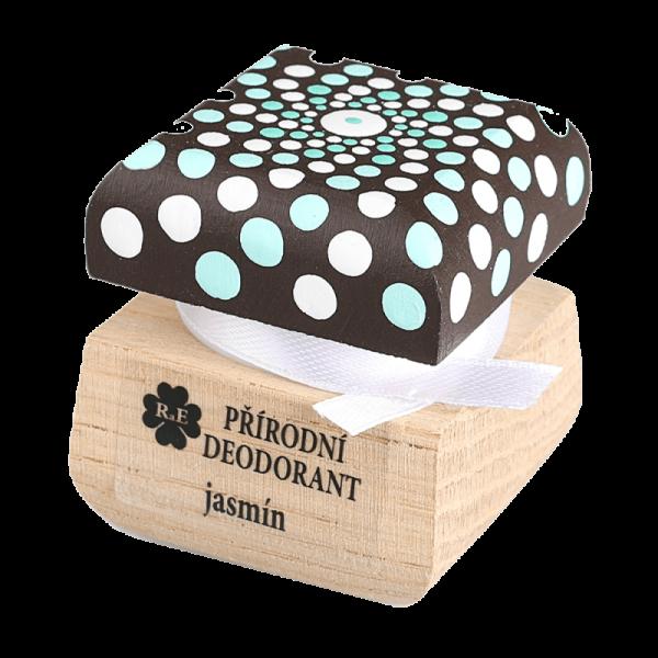 Přírodní krémový deodorant Jasmín - ručně malovaný s mandalou 15 ml
