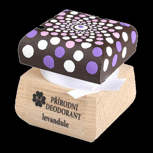 Přírodní krémový deodorant Levandule - ručně malovaný s mandalou 15 ml