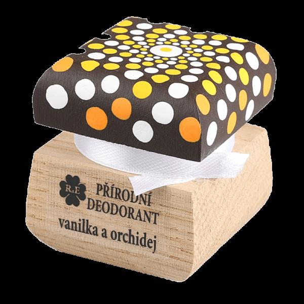 Přírodní deodorant Vanilka a orchidej - ručně malovaný s mandalou 15 ml