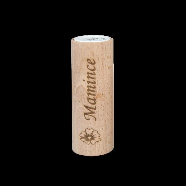 Přírodní deodorant roll-on s dřevěným obalem a vlastním motivem