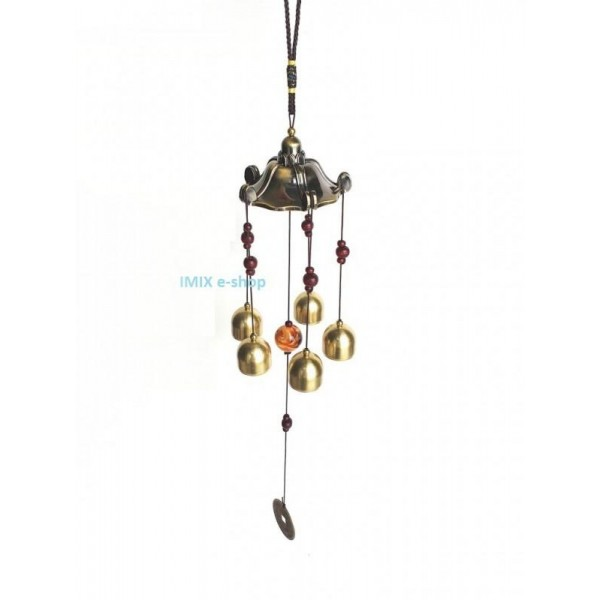 Zvonkohra se symboly štěstí Feng Shui