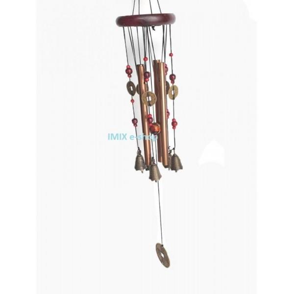 Zvonkohra velká Feng shui se symboly štěstí a tradičními zvonky
