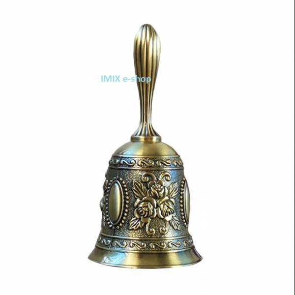 Orientální ruční zvonek bronzový