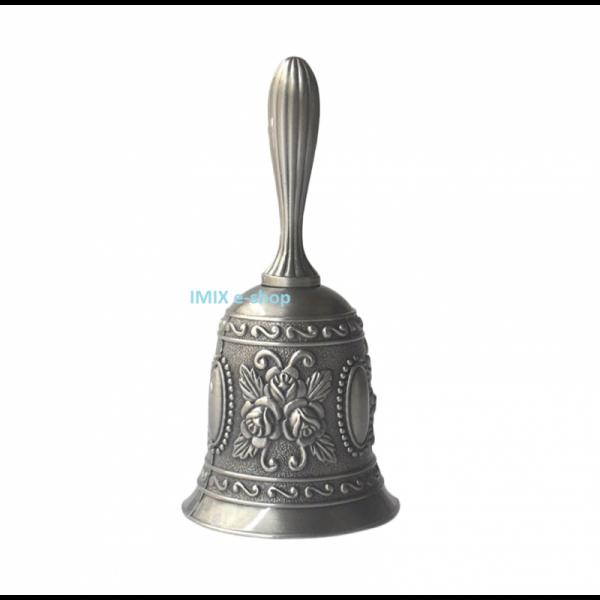 Orientální ruční zvonek stříbný