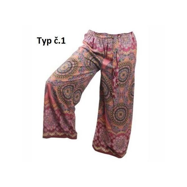 Volné široké letní kalhoty Mandala široké - více barev
