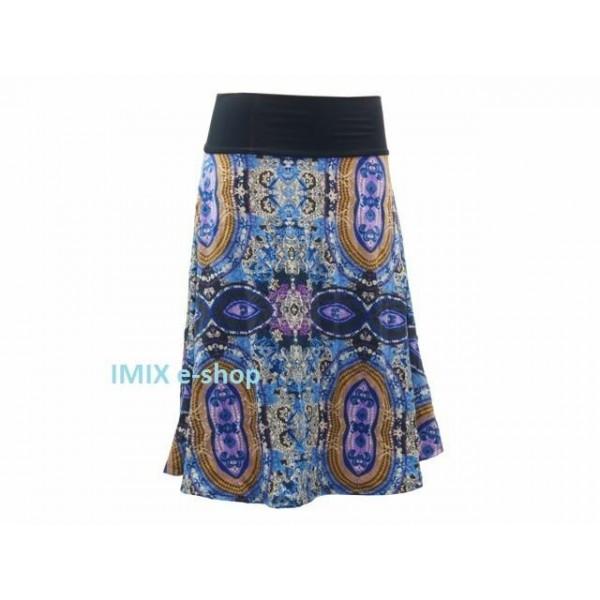 Středně dlouhá sukně Elena - orientální motiv