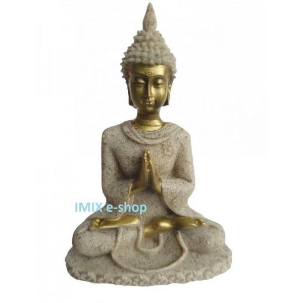 Soška Buddha z pískovce 8 cm