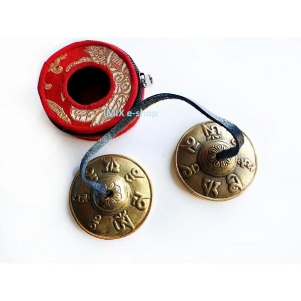 Kartálky Tingshak Ting-ša 6,5 cm tibetské zdobené s pouzdrem