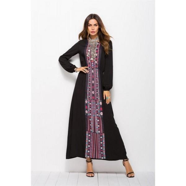 Dámské šifónové orientální dlouhé šaty v marockém stylu - Více barev!