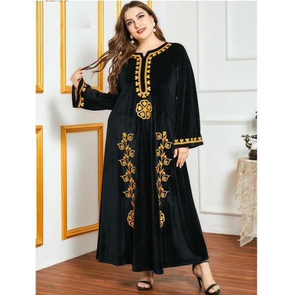 Orientální dlouhé šaty Abaya DUBAJ černé