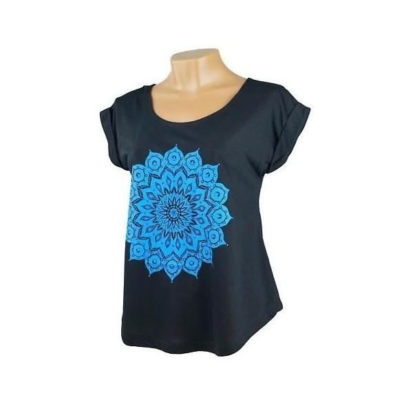 Dámské volné tričko s krátkým rukávem Jóga - Mandala
