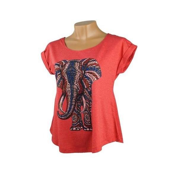 Dámské volné tričko s krátkým rukávem Jóga - Slon