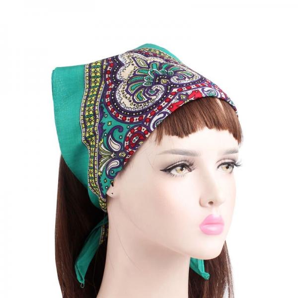 Bavlněný šátek s orientálním motivem - univerzální čtverec
