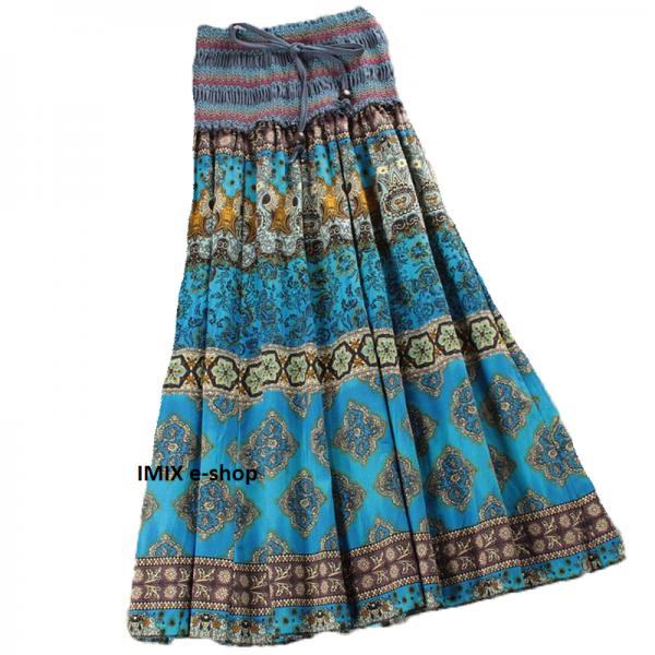 Exotická dlouhá sukně se stahovacím pasem