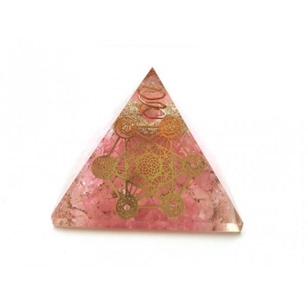 Orgonitová pyramida Láska a Metatronova kostka 7x7 cm