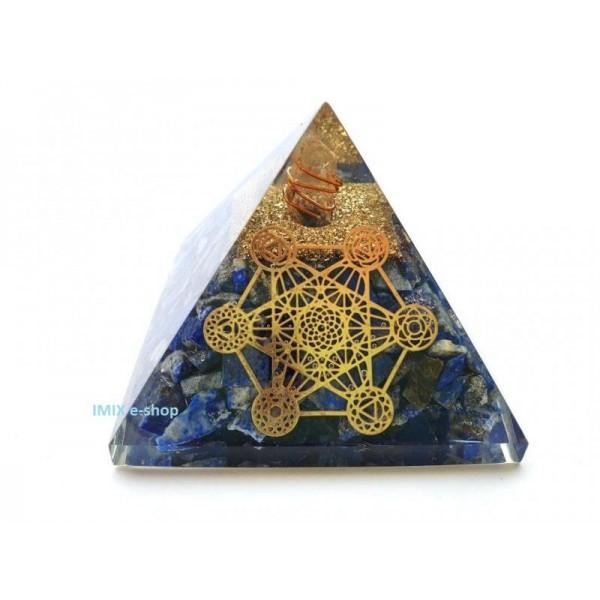 Orgonitová pyramida Lapis lazuli - Klid a mír 7,5x7,5 cm