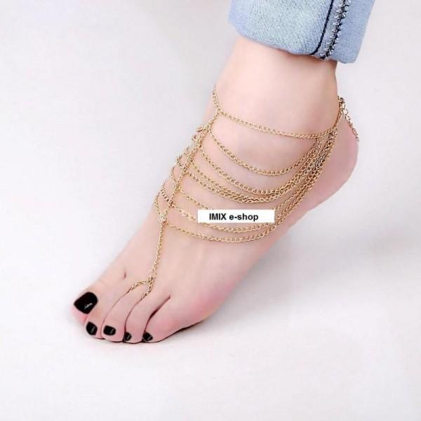 Řetízkový náramek na nohu