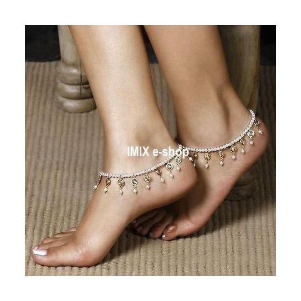 Perleťový náramek na nohu