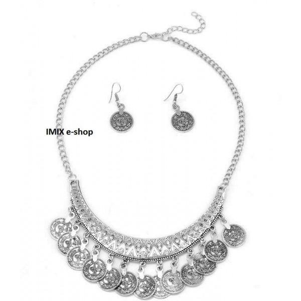 Penízkový komplet - náhrdelník s náušnicemi