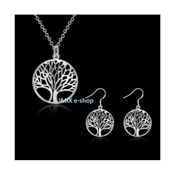 Strom života set - náhrdelník s náušnicemi